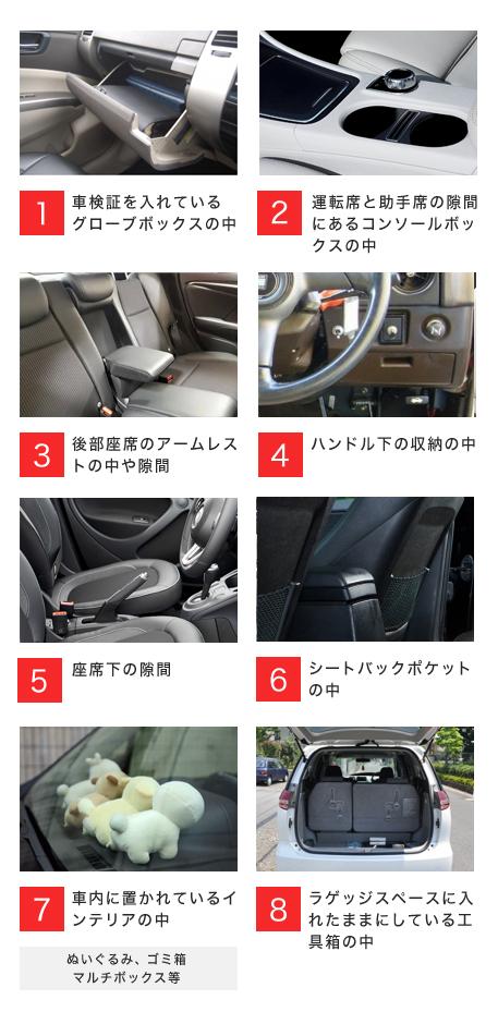 車内に設置される盗聴器